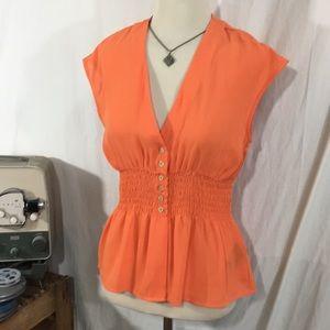 Fun Tangerine Orange Guess Blouse